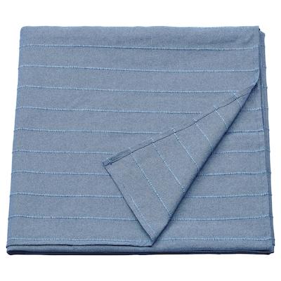 SKÄRMLILJA sengeteppe blå 250 cm 230 cm