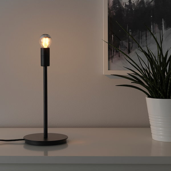 SKAFTET Bordlampefot, svart, 30 cm