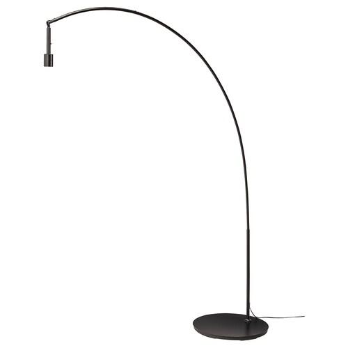 SKAFTET gulvlampefot, buet svart 13 W 143 cm 214 cm 48 cm 200 cm