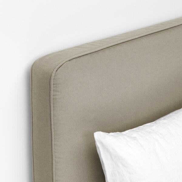 SKÅRER / BORÖY madrass med hodegavl fast/medium/Talgje 200 cm 160 cm