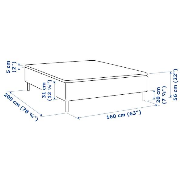 SKÅRER Madrass og overmadrass, medium/Tuddal, 160x200 cm