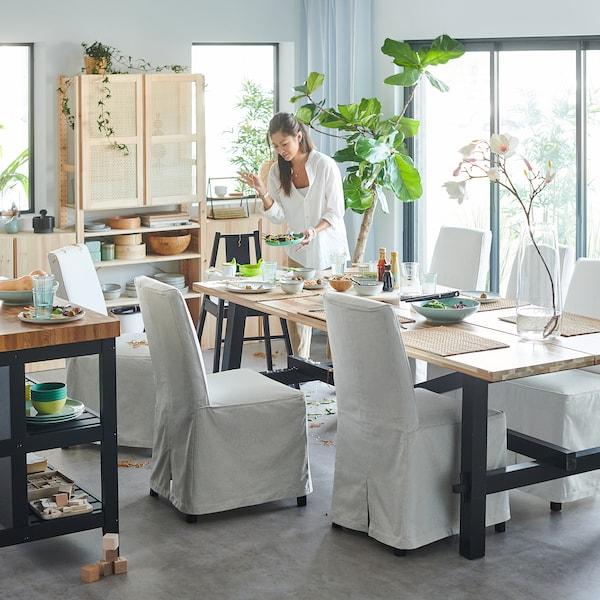 SKOGSTA Spisebord, akasie, 235x100 cm