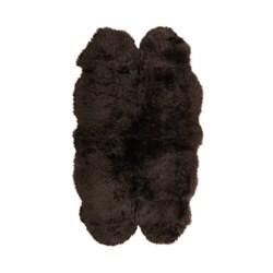 SKOLD saueskinn, mørk brun