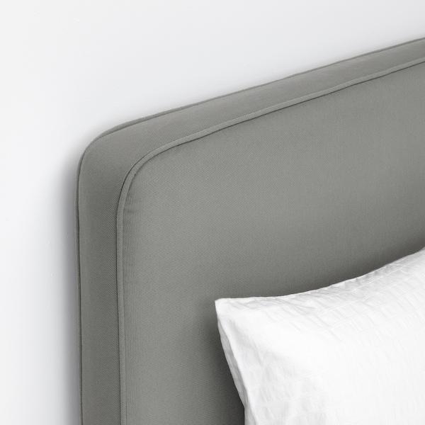 SKOTTERUD / BORÖY Madrass med hodegavl, medium/Tussöy, 180x200 cm