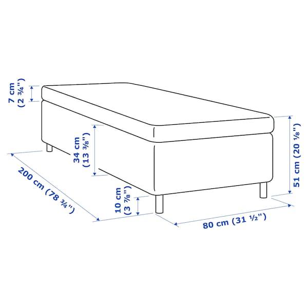 SKOTTERUD Madrass og overmadrass, medium/Tustna, 80x200 cm