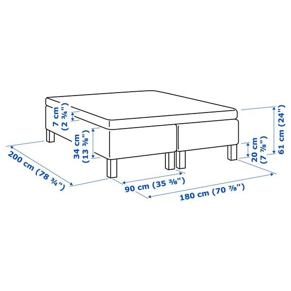 SKOTTERUD Madrass og overmadrass, medium/Tustna, 180x200 cm