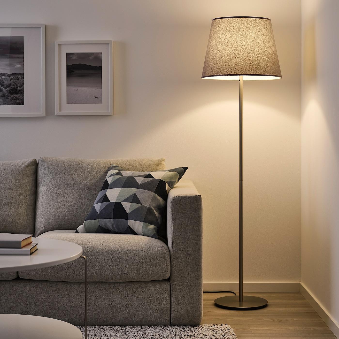 SKOTTORP Lampeskjerm, lys grå, 42 cm