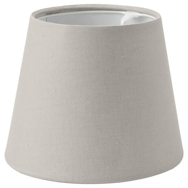 SKOTTORP Lampeskjerm, lys grå, 19 cm