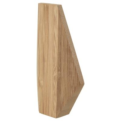 SKUGGIS Knagg, bambus, 6.4x11 cm