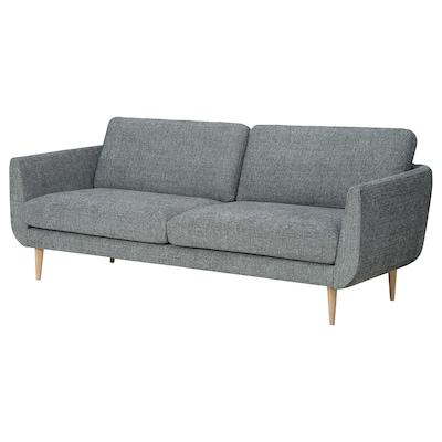 SKULTORP 3-seters sofa svart/hvit/natur 85 cm 67 cm 214 cm 92 cm 85 cm 18 cm 12 cm 66 cm 190 cm 61 cm 45 cm
