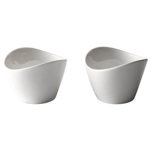 SKYN serveringsbolle hvit 5 cm 7 cm 2 stk.