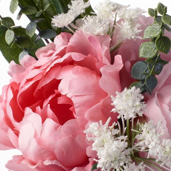 SMYCKA Bukett kunstige blomster, rosa, 25 cm