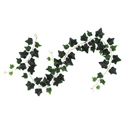 SMYCKA Kunstig girlander, inne/ute/Eføy grønn, 1.5 m