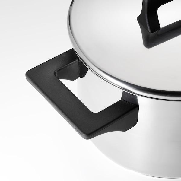 SNITSIG Gryte med lokk, rustfritt stål, 3 l