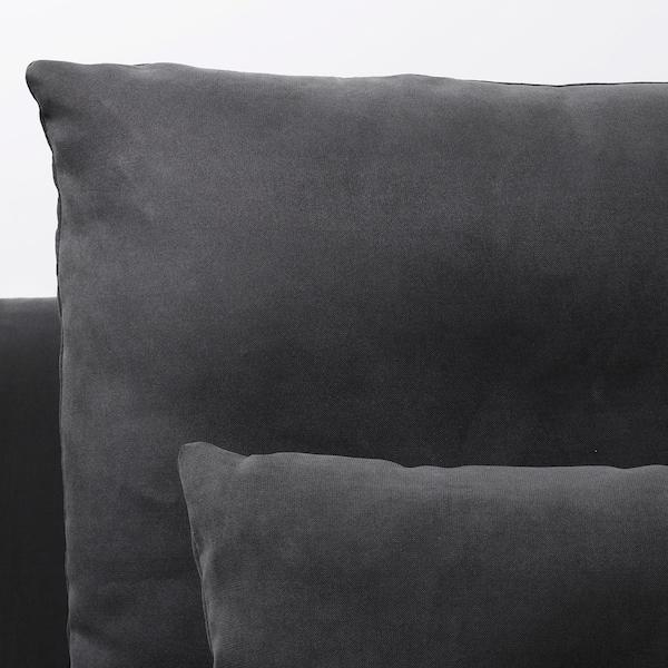 SÖDERHAMN 4-seters sofa, med sjeselong og åpen ende/Samsta mørk grå