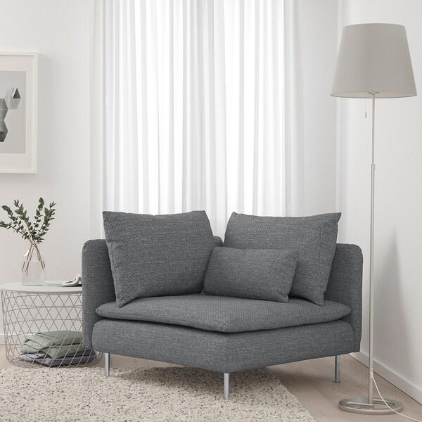 SÖDERHAMN Hjørnemodul, Lejde grå/svart