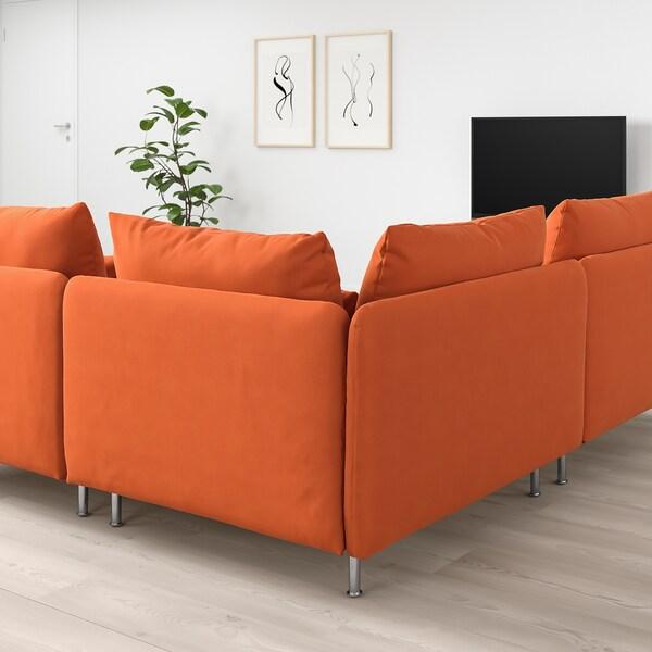 SÖDERHAMN Hjørnesofa, 3-seters, Samsta oransje