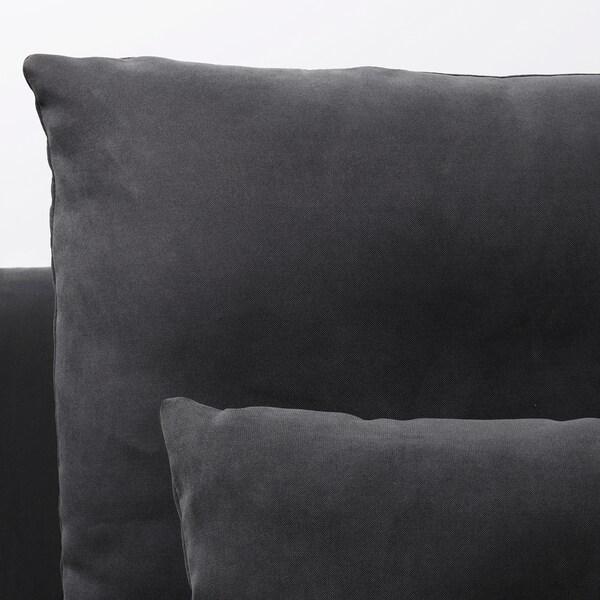 SÖDERHAMN Hjørnesofa, 6-seters, Samsta mørk grå