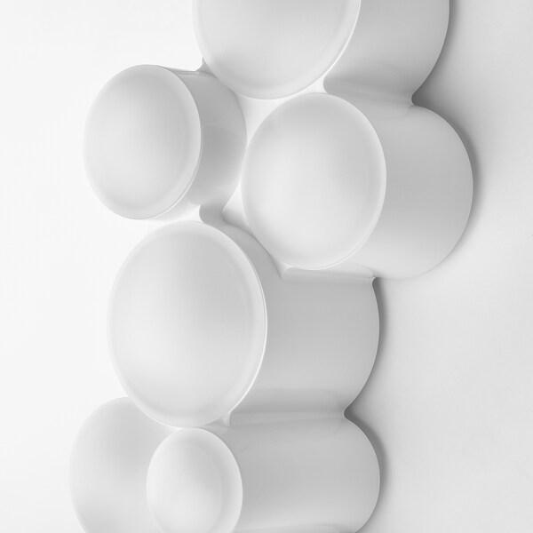 SÖDERSVIK LED vegglampe, hvit/blank, 70x10 cm