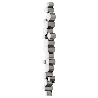 SÖDERSVIK LED vegglampe, svart/forkrommet, 70x10 cm