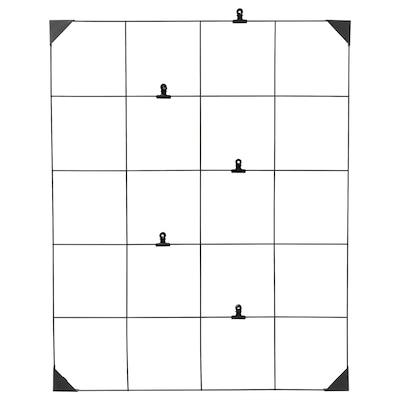 SÖSDALA Oppslagstavle med klips, svart, 60x75 cm