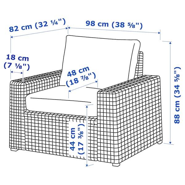 SOLLERÖN Lenestol, utendørs, brun/Frösön/Duvholmen blå