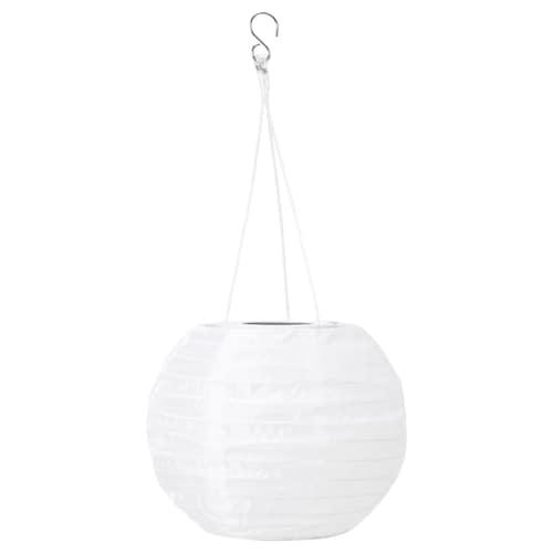 SOLVINDEN LED solcdr pendellampe utendørs/globe hvit 3 lm 22 cm 19 cm 19 cm