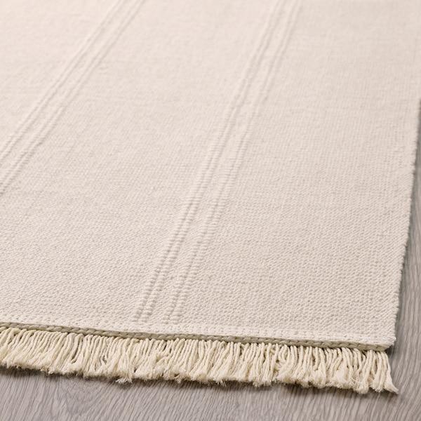 SORTSÖ Teppe, flatvevd, ubleket, 55x85 cm
