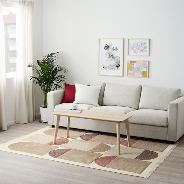 SPANGSBRO Teppe, flatvevd, håndlaget flerfarget, 170x240 cm