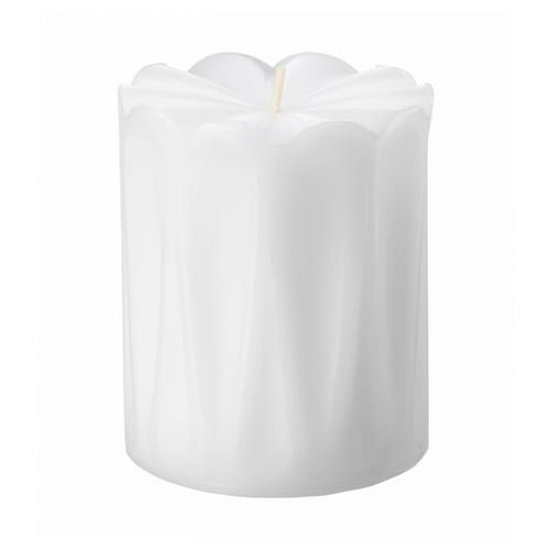 SPEKULERA kubbelys, uparfymert hvit 8 cm 6.8 cm 20 hr