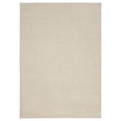 SPORUP Teppe, kort lugg, lys beige, 170x240 cm