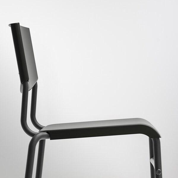 STIG Barstol, svart/svart, 63 cm