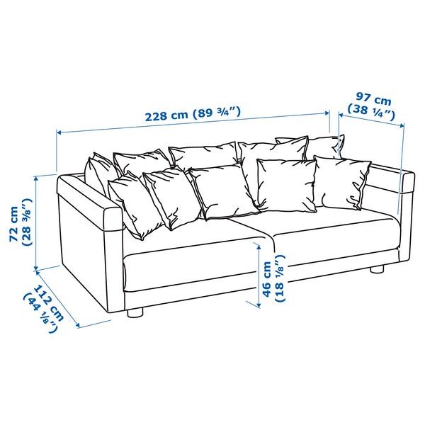 STOCKHOLM 2017 3-seters sofa, Sandbacka mørk blå