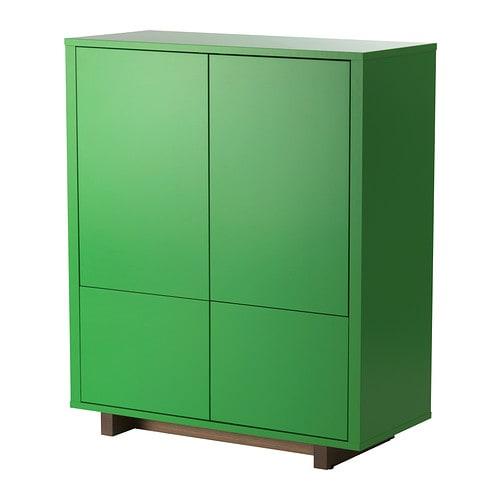 högt skåp med lås ~ stockholm skap med 2 skuffer  grønn  ikea