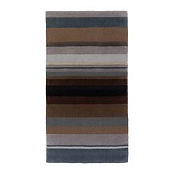 STOCKHOLM teppe, kort lugg, brun håndlaget
