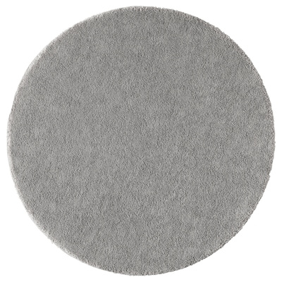 STOENSE Teppe, kort lugg, mellomgrå, 130 cm