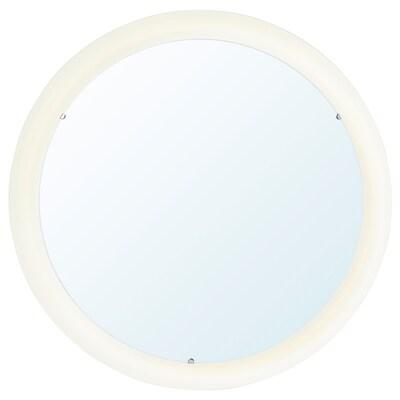 STORJORM Speil med integrert belysning, hvit, 47 cm