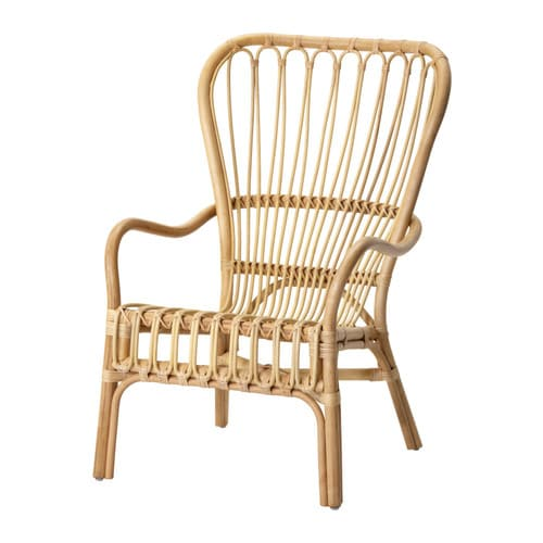 STORSELE Stol med høy rygg IKEA Håndlaget, gir en myk, avrundet form og nydelig detaljert mønster.  Hvert møbel er unikt.