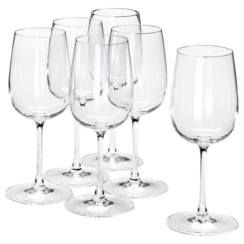 STORSINT hvitvinsglass klart glass 20 cm 32 cl 6 stk.