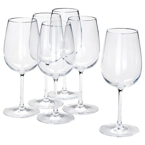 STORSINT vinglass klart glass 21.5 cm 49 cl 6 stk.