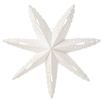 STRÅLA Lampeskjerm, snøfnugg, 70 cm