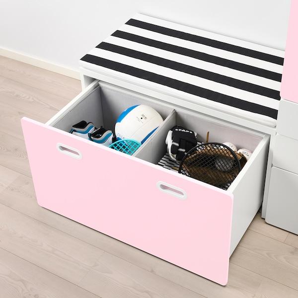 STUVA FRITIDS Garderobe med oppbevaringsbenk hvit, lys
