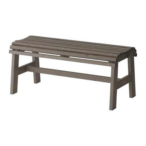 SUNDERÖ Benk, utendørs , gråbeiset grå Lengde: 100 cm Bredde: 43 cm / 43 cm
