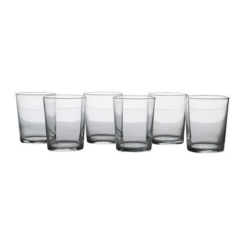 SVALKA Glass, klart glass Høyde: 9 cm Volum: 20 cl Antall i pakken: 6 stk.