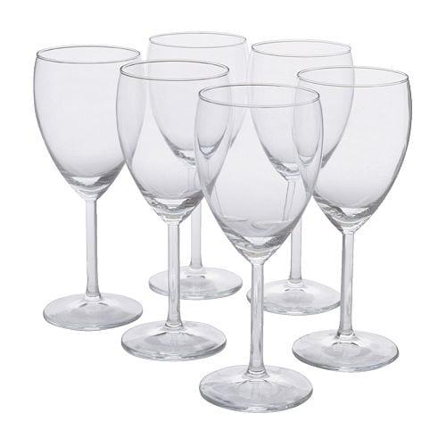 SVALKA Hvitvinsglass, klart glass Høyde: 18 cm Volum: 25 cl Antall i pakken: 6 stk.