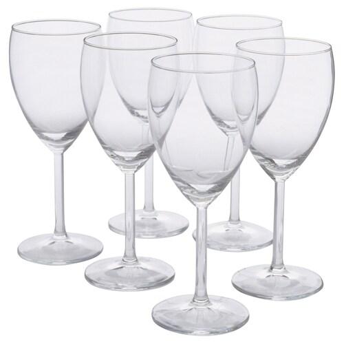 SVALKA hvitvinsglass klart glass 18 cm 25 cl 6 stk.