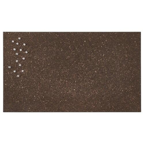 SVENSÅS oppslagstavle med nåler kork mørk brun 60 cm 35 cm