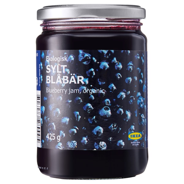 SYLT BLÅBÄR Blåbærsyltetøy, økologisk, 425 g