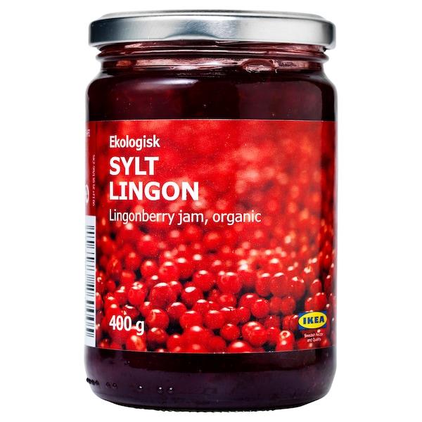 SYLT LINGON Tyttebærsyltetøy, økologisk, 400 g