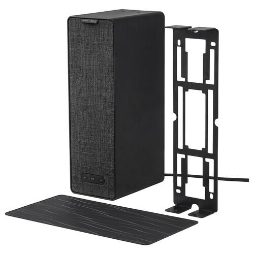 SYMFONISK / SYMFONISK bokhyllehøyttaler med veggfeste svart 10 cm 15 cm 31 cm